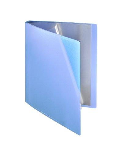 Sichtbuch flexibel, 20 Hüllen, A4, PP blau transparent (Blaue Präsentationsmappen)