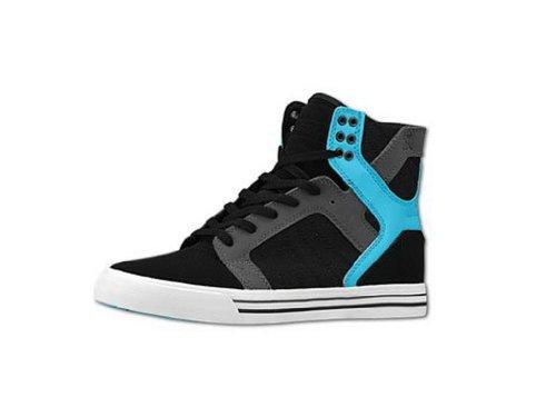 Shoes Supra Skytop Black/Grey/Turq–White Schwarz - Schwarz