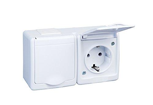 EPN/ /Interruptor de encendido de doble interruptor IP44/10/A//250/V Humedad W//2