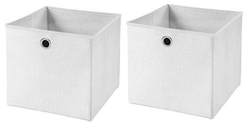 2 Stück Faltbox Weiß 28 x 28 x 28 cm Aufbewahrungsbox faltbar