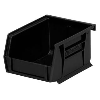 Akro-Mils 3021012,7cm x 10,1 cm x 7,6 cm ESD-Akro-Kunststoffbox, stapelbar und zum Aufhängen, schwarz, Box mit 24 Stück