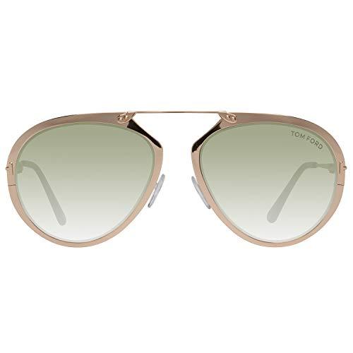 Tom Ford Unisex-Erwachsene FT0508 28N 55 Sonnenbrille, Gold,