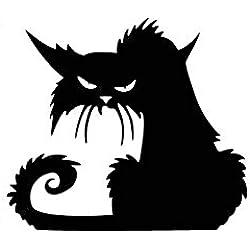 Outflower Pegatinas Cambiar Pared Decorativo, Patrón de Gato Negro de Halloween - Etiquetas Adhesivos Adornos 42 x 37 cm