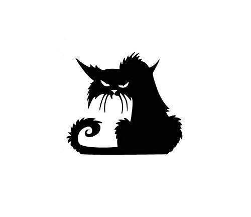 (Haodou Glas Wandaufkleber Halloween Schwarze Katze Wandsticker PVC Aufkleber Abnehmbare Wasserdicht Wandtattoo Küche Wohnzimmer Dekor (42×37cm))