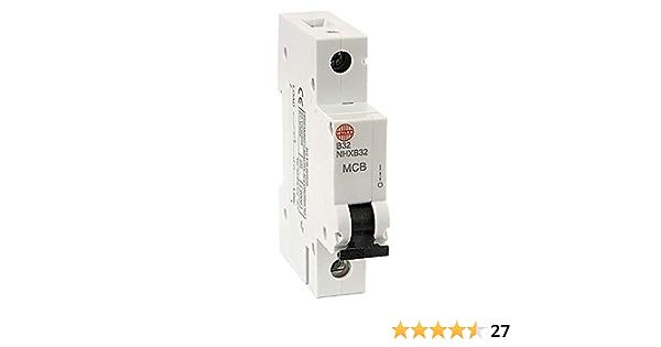 Wylex B32 MCB NHXLB32 32 Amp SP McB Miniature Disjoncteur-Remplace NHXB32