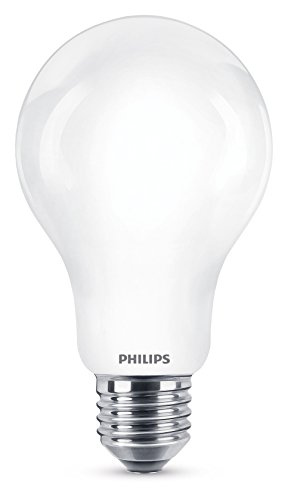 Philips Lighting 100W Warm White Non-dimmable Bulb Philips Lampadina LED Classic Goccia, Attacco E27, 11.5 W Equivalenti a 100 W, 2700 K, Bianco, 12.4x7x7 cm