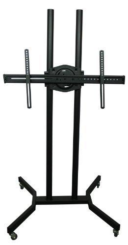 TV Ständer Trolley, Rack, Standfuß mit Rollen, höhenverstellbar, 37 bis 60 Zoll, 40 kg Tragkraft, VESA 300x300, 400x200, 400x400, 600x400 und 800x400
