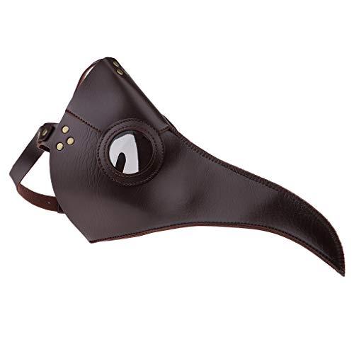 Fenteer Plague Doctor Maske Pestmaske Schnabelmaske Doktor Arzt Kopfmaske Ledermaske Steampunk Mask Gothic Cosplay ()