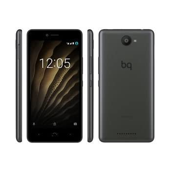 bq c000238 Smartphone (16GB Memoria, cámara de 13 MP, 2 GB RAM, Android 12,7 cm (5 Pulgadas)), Color Negro/Graphite Gris