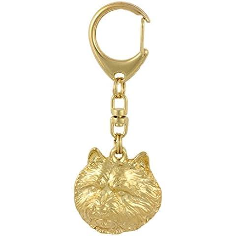 Terrier de Norwich, oro milesimas 999, oro llavero del perro, ArtDog
