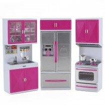 Az Import & Trading Psk35 Battery Operated Kitchen Playset Refrigerator, Stove & Sink