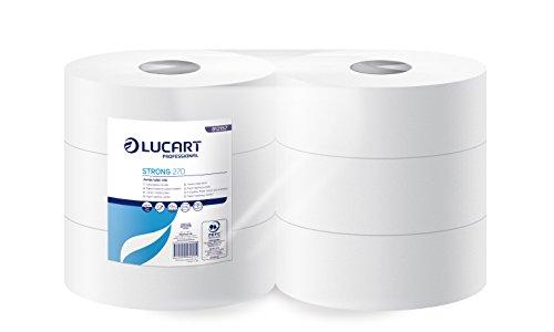 lucart-professional-812157-rouleaux-de-papier-toilette-maxi-jumbo-strong-270-m-blanc-pack-de-6