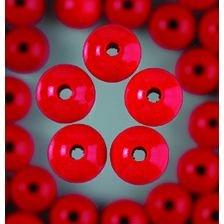 EFCO 1400829 10 mm 53-Stück Holzperlen, Rot -