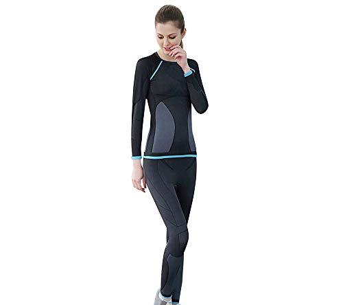 Set de Ropa Interior Termal de Mujer Remera Manga Larga & Pantalones Largos Traje de pantalón de Ropa Interior térmica de Invierno para Señorita