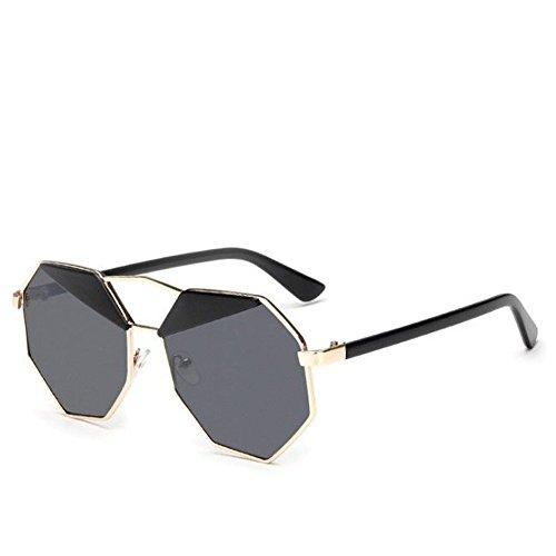 Baiyao Herren Damen Unregelmäßige Octagon Metallrahmen Sonnenbrille