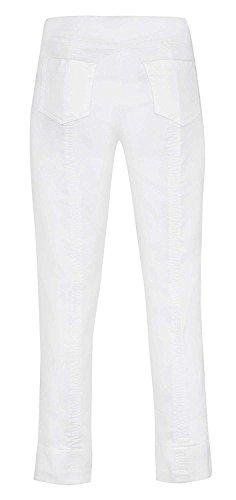 Robell -  Pantaloni  - straight - Donna weiß(10)