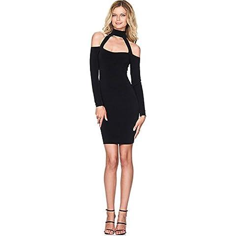 Di base senza spalline aderente mini tubo delle donne XJoel Black Dress M