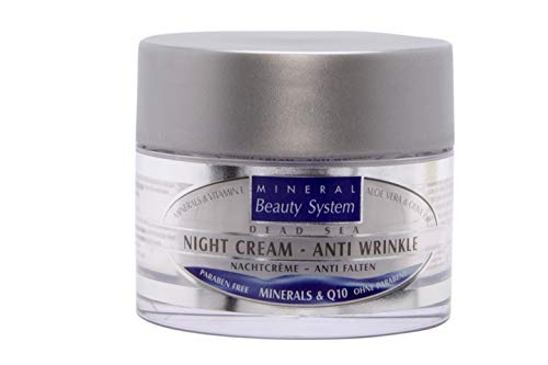 Totes Meer Nacht Crème - Anti Falten, Mineralien & Q10 - 50 ml 100% Original by Mineral Beauty...