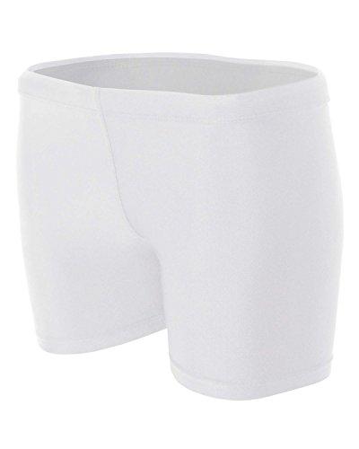 A4Nw531310,2cm à compression Short pour femme blanc