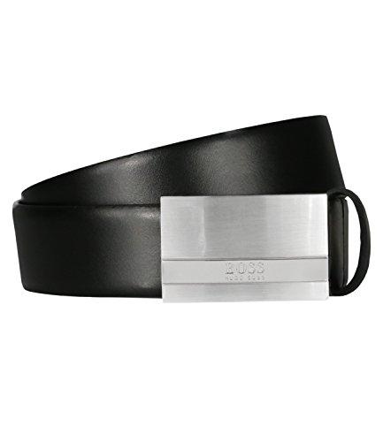 HUGO BOSS Herrengürtel Baxton, Leder, 3,5 cm, Black, 110 cm