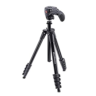Manfrotto Compact Action Aluminum Tripod with Hybrid Head, Black