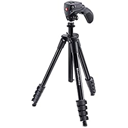 Manfrotto Compact Action Kit de Trépied + Rotule + Manette 5 Sections Noir
