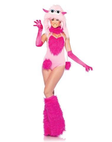otton Candy Monster Kostüm, 2-teilig, Größe M, rosa (Cotton Candy Halloween Kostüm)