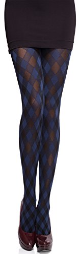 Merry Style Damen blickdichte Strumpfhose MS 317 60 DEN(Navy, M (36-40)) - Navy Blickdichte Strumpfhose