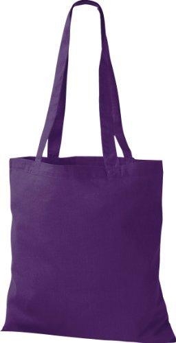 ShirtInStyle Premium Stoffbeutel Baumwolltasche Beutel Shopper Umhängetasche viele Farbe purple
