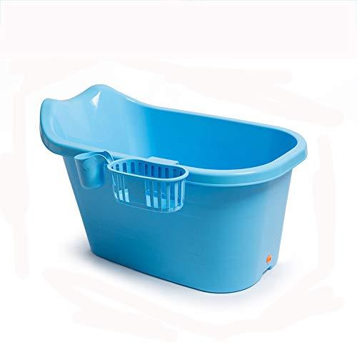 XING-ZI-Bathtub C-K-P Badewanne Kinderbadewanne Für Kinder Mini-Badewanne Für Erwachsene Verdicken Warmes Kind Badeeimer (Farbe : Blau)