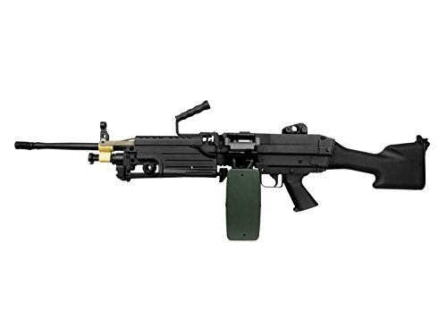 A&K M249 MK2 Vollauto Softair / Airsoft Light Machine Gun Maschinengewehr -schwarz-  0,5 Joule