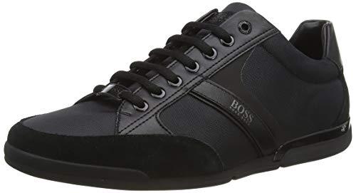 BOSS Herren Saturn_Lowp_MX Sneaker, Schwarz (Black 001), 43 EU