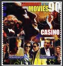 Turkmenistan 2002 Legendary Movies of the '90's - Casino FILMS CINEMA MOVIES PERSONALITIES ENTERTAINMENTS JandRStamps (56125)