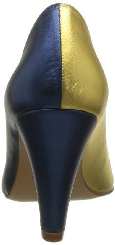 Atelier Mercadal Vintage Vava, Escarpins femme, Multicolore (Charol Negro Pantera Silver), 41 EU Bleu (Laminado Blu Oceano)