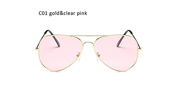 623d093192baf Shopystore Gold Clear Pink  Aimade Fashion Clear Lens Pilot Sunglasses  Women Men Vintage Gradient O  Amazon.in  Clothing   Accessories
