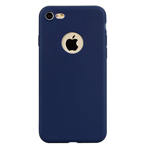 Custodia per Apple iPhone 7 , IJIA Puro Rosa TPU Silicone Morbido Protettivo Coperchio Custodia Bumper Protettiva Case Cover per Apple iPhone 7 (4.7) Blue