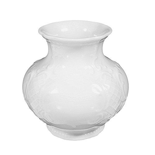 Vase 9/937 4 Stück Salzburg weiss uni 00003 von Seltmann Weiden