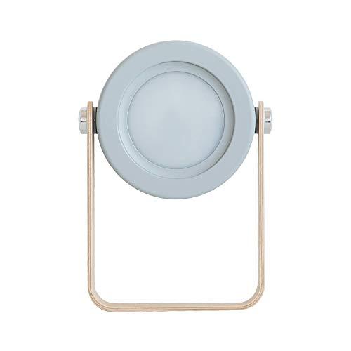 erne Lampe 3D Kleine Nachtlicht Nicht polarisierte Tischplatte Schreibtischlampe USB Lampe Schlafzimmer Nacht Hand Licht 6x0,2 cm Grau ()