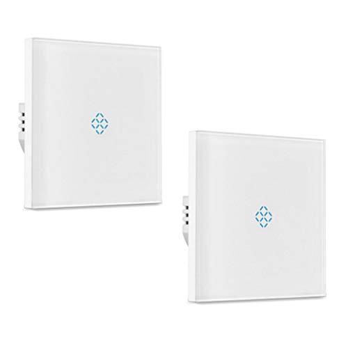 DONGBALA Drahtlose Schalter Smart Wi-Fi Light Touchscreen-Fernbedienung mit Alexa und Google Home (2 Pakete),1control,2packs -