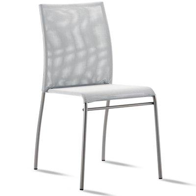 Set 2chaises- Metall und Netz-stapelbar weiß -