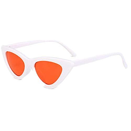 Sonnenbrille Polarisiert für Damen/Dorical Cateye Bonbonfarben Kleiner Rahmen Gläser Sonnenbrille mit UV-400 Schutz Vintage Brille Frauen Sunglasses Travel Eyewear(H)
