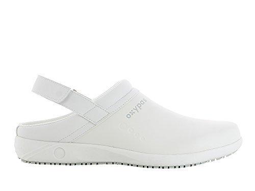 Oxypas Remy Unisex Arbeits- und Sicherheitsschuhe | Clogs, Farbe: Weiß, Größe: 39 Restaurant Rutschfeste Schuhe