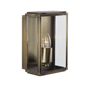 1-Light Modern Antique Brass Finish Outdoor Coach