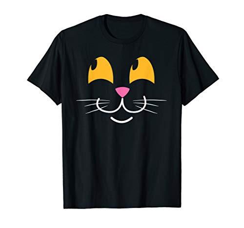 Katzengesicht Kätzchen Gesicht Kostüm T-Shirt ()