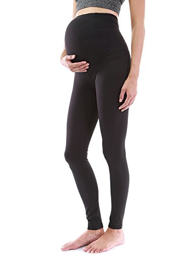 Mutterschaft Stretch Hose (PattyBoutik Mama Damen Formgebung Serie Mutterschaft legging Yoga Hose (tiefes schwarz 36/S))