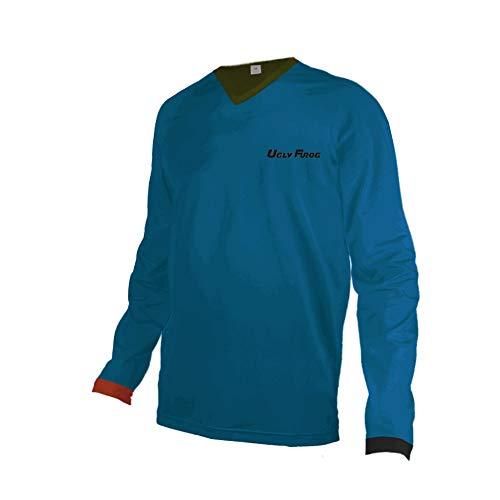 Uglyfrog DSJF02 2019-2020 MTB Jersey Mountain Bike Downhill Bicycle Jersey/Shirt Herren Long Sleeve Langarm Radtrikot Fahrradtrikot Radshirt Fahrradshirts