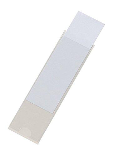 Durable 807319 Pocketfix, Selbstklebetaschen für Einsteckschilder, Beutel a 10 Stück 100 x 28 mm, 32 x 104 mm, transparent