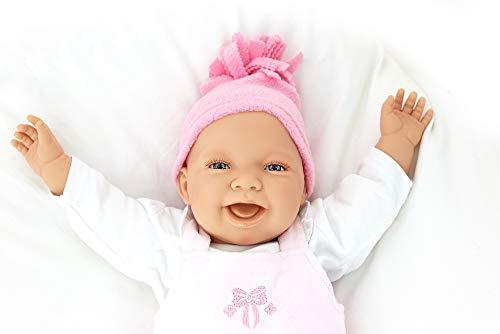 Babypuppe Rosie mit Stoffkörper 52 cm Doro Dolls