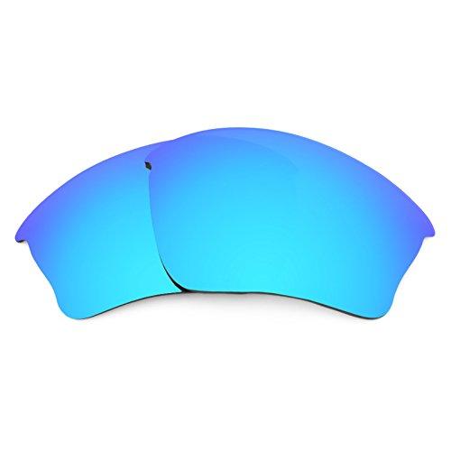 Verres de rechange pour Oakley Half Jacket XLJ — Plusieurs options Bleu Glacier MirrorShield® - Non-Polarisés