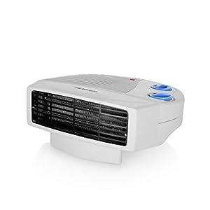 Orbegozo FH 5008 – Calefactor eléctrico con dos niveles de calor y modo ventilador de aire frío, 2000 W, Blanco